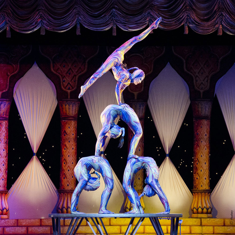 Spectacle d'acrobates - Shangai - Chine