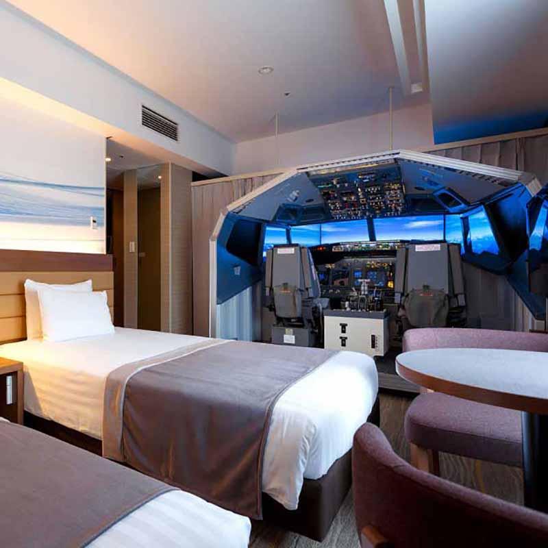 Chambre d'hôtel cockpit à Tokyo - Apogée Voyages