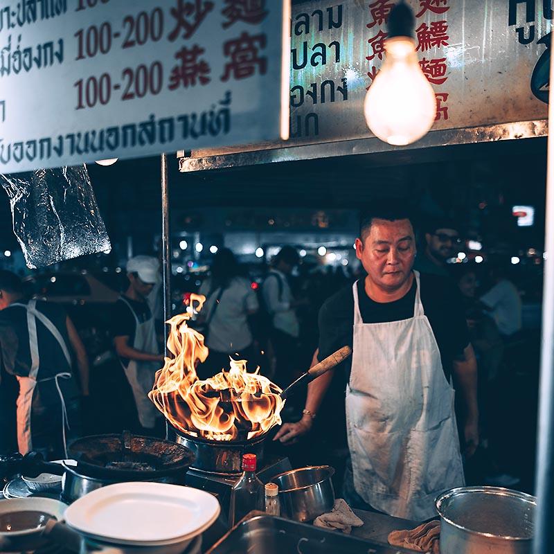 Street food chinatown Bangkok Thaïlande - Apogée Voyages